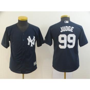 MLB Yankees 99 Aaron Judge Navy Cool Base Youth Jersey
