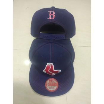 MLB Red Sox Team Logo Navy Adjustable Hat LT