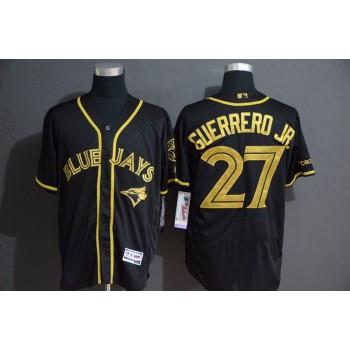 MLB Blue Jays 27 Vladimir Guerrero Jr. Black Gold Flexbase Men Jersey