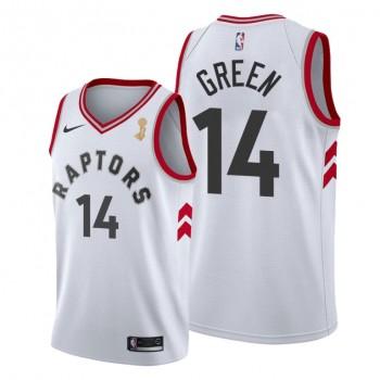 NBA Raptors 14 Danny Green White 2019 NBA Finals Champions Men Jersey