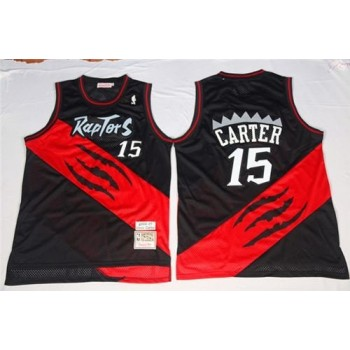 Mitchell And Ness Raptors Black/Red Throwback Customized Men Jersey