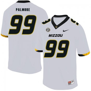 NCAA Missouri Tigers 99 Walter Palmore White Nike College Football Men Jersey