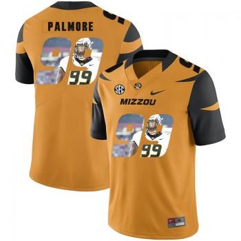 NCAA Missouri Tigers 99 Walter Palmore Gold Nike Fashion College Football Men Jersey