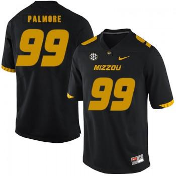 NCAA Missouri Tigers 99 Walter Palmore Black Nike College Football Men Jersey