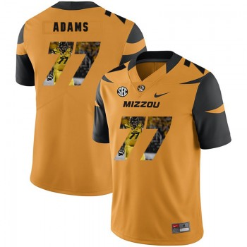 NCAA Missouri Tigers 77 Paul Adams Gold Nike Fashion College Football Men Jersey