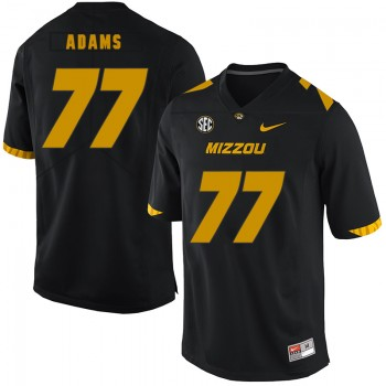NCAA Missouri Tigers 77 Paul Adams Black Nike College Football Men Jersey