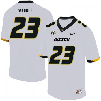 NCAA Missouri Tigers 23 Roger Wehrli White Nike College Football Men Jersey