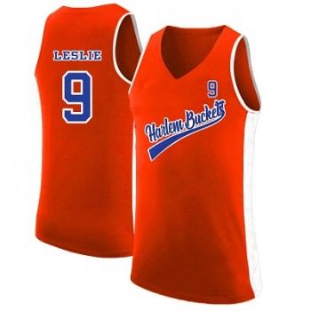 Harlem Buckets 9 Lisa Leslie Orange Uncle Drew Basketball Men Jersey