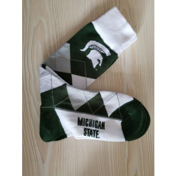Michigan State Spartans Team Logo NCAA Socks