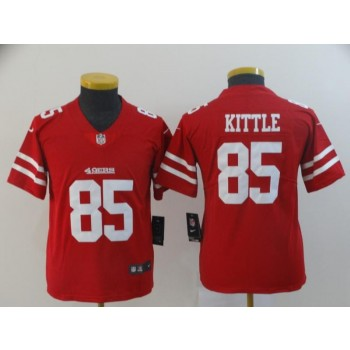 Nike 49ers 85 George Kittle Red Vapor Untouchable Limited Youth Jersey