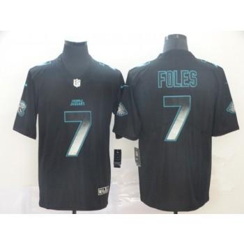 Jacksonville Jaguars 7 Nick Foles 2019 Black Smoke Fashion Limited Men Jersey