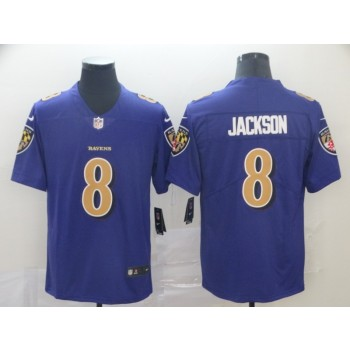 Nike Ravens 8 LaMar Jackson Purple Color Rush Limited Men Jersey