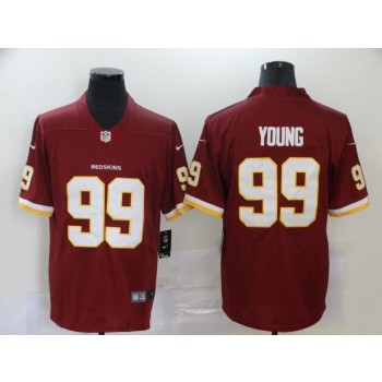 Nike Redskins 99 Chase Young Burgundy 2020 NFL Draft Vapor Limited Men Jersey