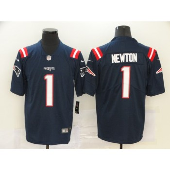 Nike Patriots 1 Cam Newton Navy 2020 New Vapor Untouchable Limited Men Jersey
