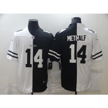 Nike Seahawks 14 D.K. Metcalf Black And White Split Limited Men Jersey