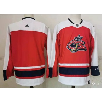 NHL Blue Jackets Blank Red 2020 New Adidas Men Jersey