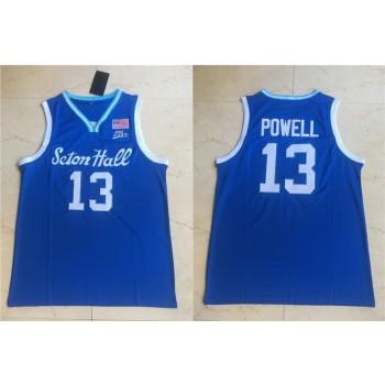 NCAA Seton Hall Pirates 13 Myles Powell Blue Nike College Basketball Men Jersey