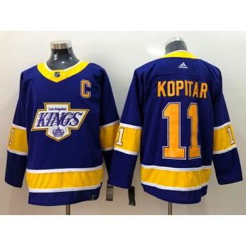 NHL Kings 11 Anze Kopitar Blue New Adidas Men Jersey