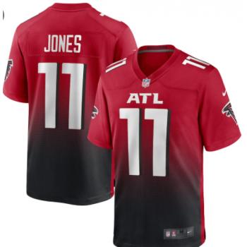 Nike Falcons 11 Julio Jones Red Black Vapor Untouchable Limited Men Jersey