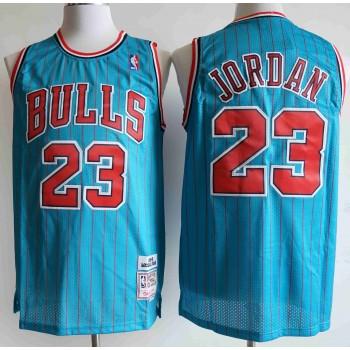 NBA Bulls 23 Michael Jordan Blue Men Jersey