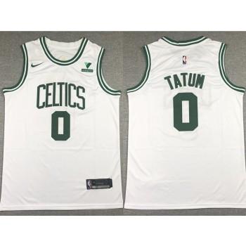 NBA Celtics 0 Jayson Tatum White Nike Men Jersey