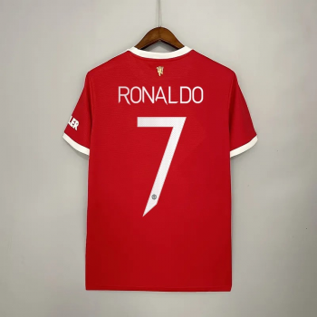 21_22 Manchester United 7 RONALDO Home Jersey CHAMPIONS LEAGUE NUMBER