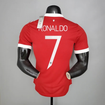 21_22 Manchester United 7 RONALDO Player Version Home Jersey CHAMPIONS LEAGUE NUMBER