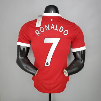 21_22 Manchester United 7 RONALDO Player Version Home Jersey PREMIRE LEAGUE NUMBER