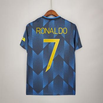 21_22 Manchester United 7 RONALDO Third Jersey CHAMPIONS LEAGUE NUMBER