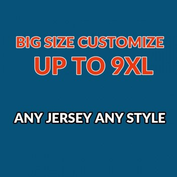 Big Size Customize Up to 9XL with Any Stitched Quality Jersey Any Style