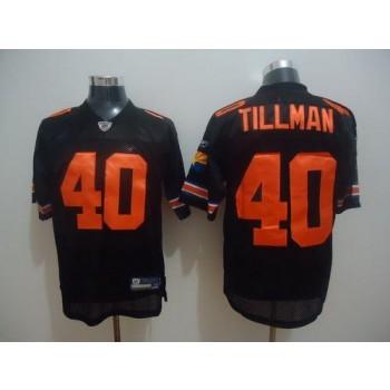 NFL Arizona Cardinals No.40 Pat Tillman Black Throwback Stitched Jersey