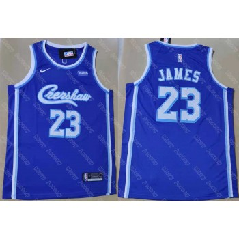 LA Lakers Concept Crenshaw 23 LeBron James Blue Jersey