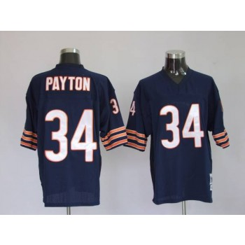 NFL Mitchell&Ness Chicago Bears 34 Walter Payton Blue Throwback Jersey