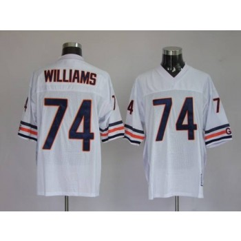NFL Mitchell&Ness Chicago Bears 74 Chris Williams White Throwback Jersey