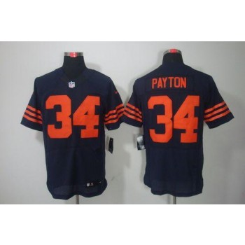 Nike NFL Chicago Bears 34 Walter Payton Navy Blue 1940s Throwback NFL Elite Football Jersey
