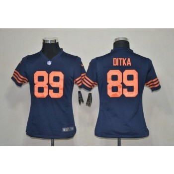 Youth Nike Chicago Bears 89 Mike Ditka Navy Blue 1940s Throwback NFL Elite Jersey