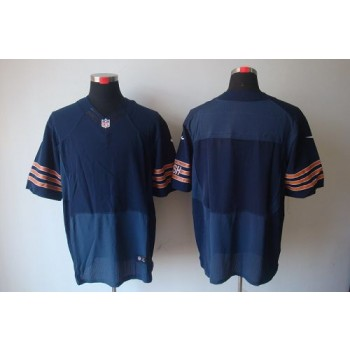 Nike NFL Chicago Bears Blank Navy Blue NFL Elite Football Jersey