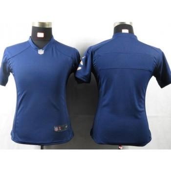 NFL Nike Chicago Bears Blank Navy Blue Women's Game Jersey