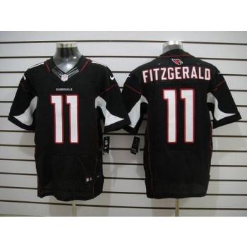 Nike Arizona Cardinals No.11 Larry Fitzgerald Black Elite Football Jersey
