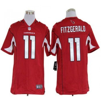 Nike Arizona Cardinals No.11 Larry Fitzgerald Red Game Football Jersey