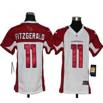 Youth Nike Arizona Cardinals No.11 Larry Fitzgerald White Elite Jersey
