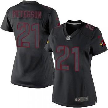 Nike Arizona Cardinals No.21 Patrick Peterson Black Impact Women's Stitched Jersey
