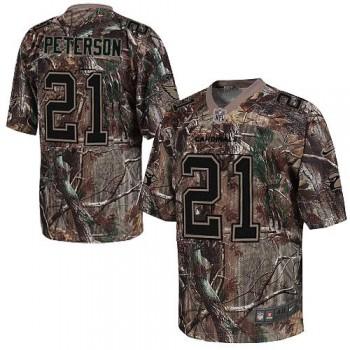 Nike Arizona Cardinals No.21 Patrick Peterson Camo Realtree Elite Football Jersey