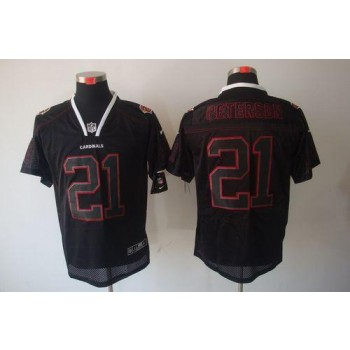 Nike Arizona Cardinals No.21 Patrick Peterson Lights Out Black Elite Football Jersey