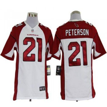 Nike Arizona Cardinals No.21 Patrick Peterson White Game Football Jersey