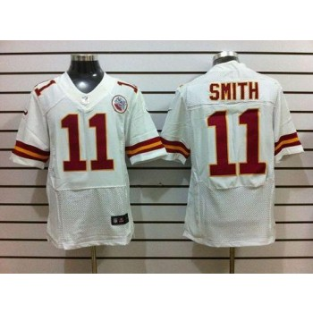 Nike Kansas City Chiefs No.11 Alex Smith White Male Embroidered Elite Stitched Football Jersey
