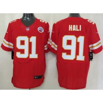 Nike Kansas City Chiefs No.91 Tamba Hali Red Elite Stitched Football Jersey