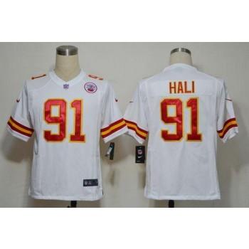 Nike Kansas City Chiefs No.91 Tamba Hali White Game Stitched Football Jersey
