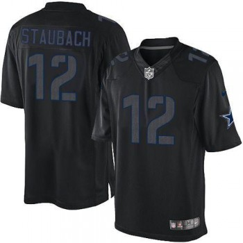 Nike Dallas Cowboys No.12 Roger Staubach Black Impact Limited NFL Jersey