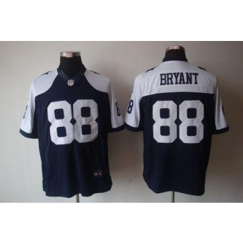 Nike Dallas Cowboys No.88 Dez Bryant Navy Blue Thanksgiving Throwback Limited NFL Jersey